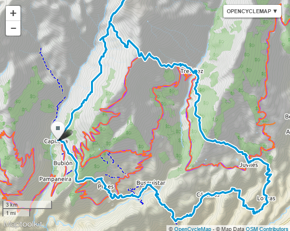 Plan for femdagers tur i Sierra Nevada