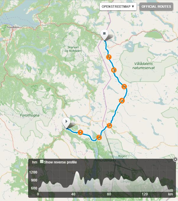 Planlegging av skitur Røros – Storlien – 151km