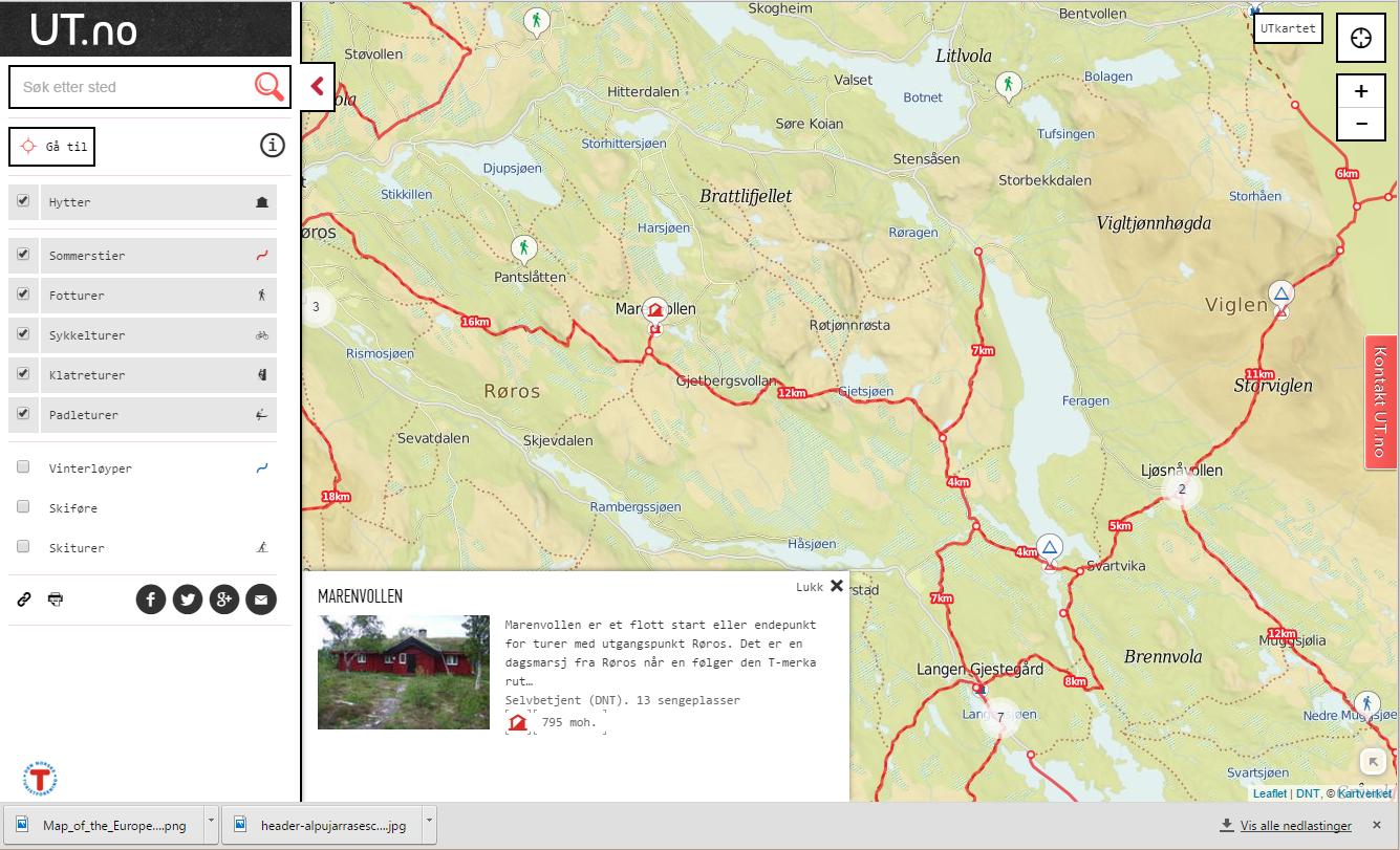 Kart og turguider – Norge